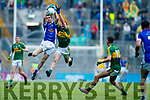 Barry Mahony Kerry in action against Philip Nulty Cavan in the All Ireland Minor Semi Final in Croke Park on Sunday.
