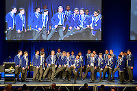 Action from the College Sport Awards Dinner 2013 at Te Rauparaha Anena, Porirua,  Wellington, New Zealand on Sunday 3 November 2013.<br /> Photo by Masanori Udagawa.<br /> www.photowellington.photoshelter.com