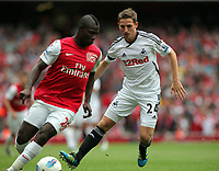 Pictured: Joe Allen of Swansea City in action. Saturday 10 September 2011<br />