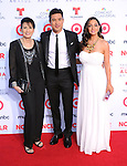 Elvia Lopez, Mario Lopez, Courtney Laine Mazza <br /> <br />  attends The 2013 NCLR ALMA Awards held at the Pasadena Civic Auditorium in Pasadena, California on September 27,2012                                                                               &copy; 2013 DVS / Hollywood Press Agency