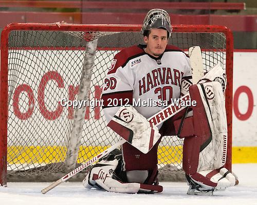 Raphael Girard (Harvard - 30) - The visiting University of Massachusetts Lowell River Hawks defeated the Harvard University Crimson 5-0 on Monday, December 10, 2012, at Bright Hockey Center in Cambridge, Massachusetts.
