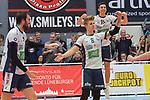 27.01.2018,  Lueneburg GER, VBL, SVG Lueneburg vs TSV Herrsching, im Bild die Lueneburger Mannschaft jubelt / Foto © nordphoto / Witke