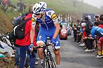 David de la Cruz (ESP) Quick-Step Floors on the brutal climb of Los Machucos during Stage 17 of the 2017 La Vuelta, running 180.5km from Villadiego to Los Machucos. Monumento Vaca Pasiega, Spain. 6th September 2017.<br /> Picture: Unipublic/&copy;photogomezsport   Cyclefile<br /> <br /> <br /> All photos usage must carry mandatory copyright credit (&copy; Cyclefile   Unipublic/&copy;photogomezsport)