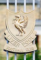 Anfield Stadium, The Kop, Liverpool Football Club ground, UK