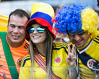 Belo Horizonte, Brazil - Saturday, June 14, 2014: Colombia defeated Greece 3-0 during World Cup group stage play at Estádio Mineirão.