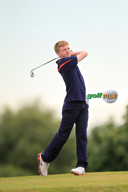 Shane McDermott (Co. Cavan) on the 2nd tee during Round 3 of the Ulster Boys' Amateur Open Championship in Clandeboye Golf Club on Thursday 10th July 2014.<br /> Picture:  Thos Caffrey / www.golffile.ie
