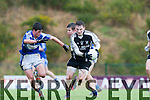 Stephen O'Sullivan PS Inbhear Sceine breaks away from the Ballyvourney defence during the Corn Sheain Ui Mhurchu final in Killarney on Saturday