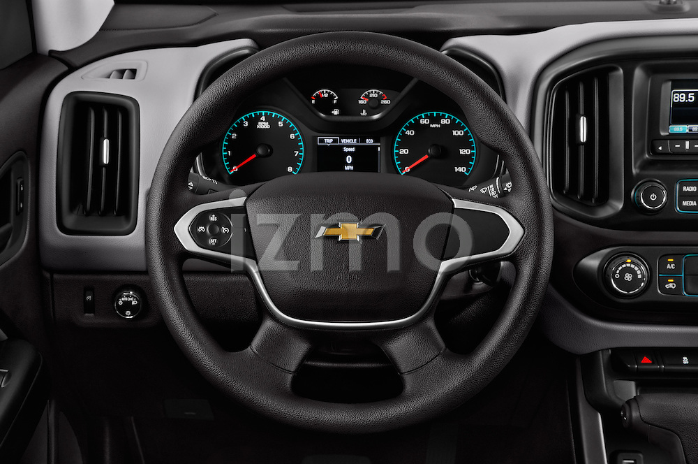 Car pictures of steering wheel view of a 2016 Chevrolet Colorado 2WD wt Extended Cab 3 Door Pick-up Steering Wheel