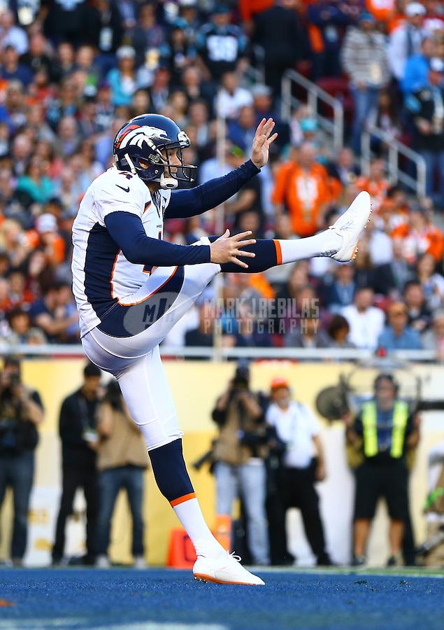 Feb 7, 2016; Santa Clara, CA, USA; in Super Bowl 50 at Levi's Stadium. Mandatory Credit: Mark J. Rebilas-USA TODAY Sports