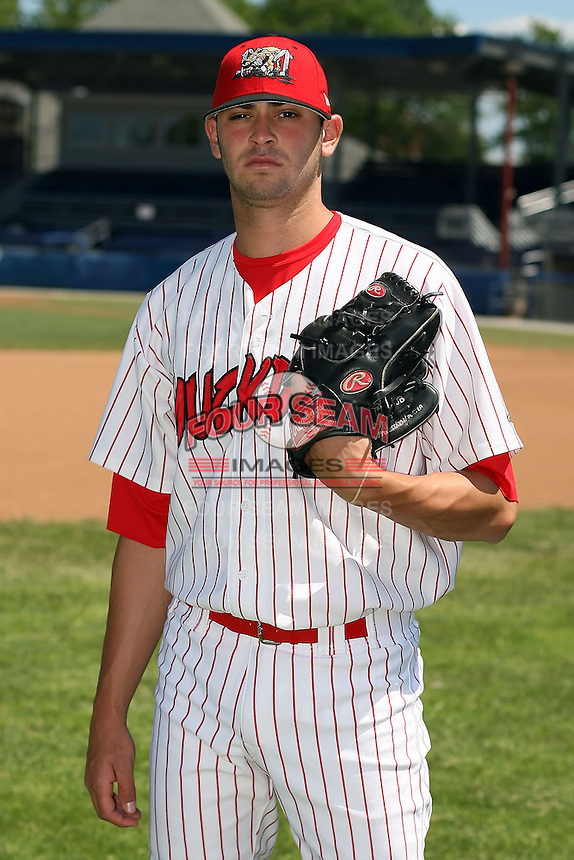 June 30th, 2007:  David Kopp of the Batavia Muckdogs, Short-Season Class-A affiliate of the St. Louis Cardinals at Dwyer Stadium in Batavia, NY.  Photo by:  Mike Janes/Four Seam Images