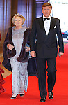 """QUEEN BEATRIX AND SON CROWN PRINCE WILLEM-ALEXANDER.attend the gala farewell dinner for Queen Beatrix at the Rijksmuseum in Amsterdam, The Netherlands_April 29, 2013..Crown Prince Willem-Alexander and Crown Princess Maxima will be proclaimed King and Queen  of The Netherlands on the abdication of Queen Beatrix on 30th April 2013..Mandatory Credit Photos: ©NEWSPIX INTERNATIONAL..**ALL FEES PAYABLE TO: """"NEWSPIX INTERNATIONAL""""**..PHOTO CREDIT MANDATORY!!: NEWSPIX INTERNATIONAL(Failure to credit will incur a surcharge of 100% of reproduction fees)..IMMEDIATE CONFIRMATION OF USAGE REQUIRED:.Newspix International, 31 Chinnery Hill, Bishop's Stortford, ENGLAND CM23 3PS.Tel:+441279 324672  ; Fax: +441279656877.Mobile:  0777568 1153.e-mail: info@newspixinternational.co.uk"""