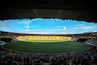 A general view of the One Day International cricket match between the New Zealand Black Caps and England at the Westpac Stadium in Wellington, New Zealand on Friday, 2 March 2018. Photo: Dave Lintott / lintottphoto.co.nz