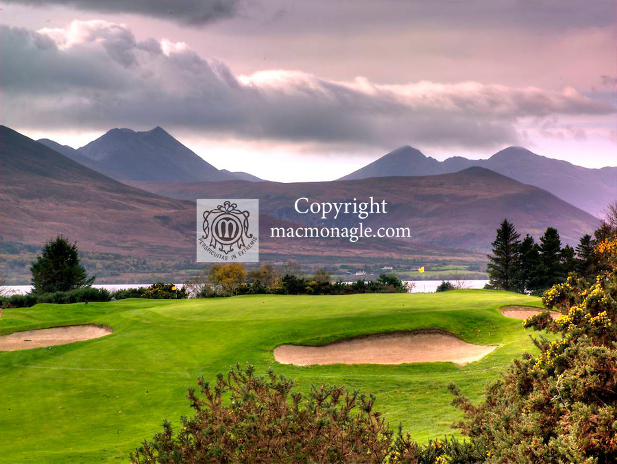 The 13th green on Mahony's Point, Killarney GolfClub..Picture by Don MacMonagle.