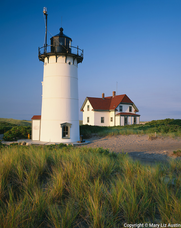 Cape Cod National Seashore, MA <br /> Early morning light on Race Point Lighthouse (1876) at Race Point