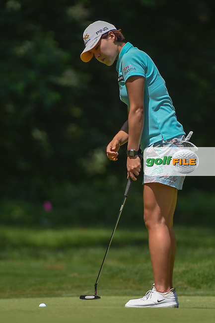 In Gee Chun (KOR) watches her putt on 1 during round 1 of the U.S. Women's Open Championship, Shoal Creek Country Club, at Birmingham, Alabama, USA. 5/31/2018.<br /> Picture: Golffile | Ken Murray<br /> <br /> All photo usage must carry mandatory copyright credit (© Golffile | Ken Murray)