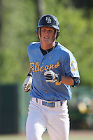 Derrick Arnold of the Myrtle Beach Pelicans vs. the Frederick Keys at BB&T Coastal Field in Myrtle Beach, SC on April 11, 2008