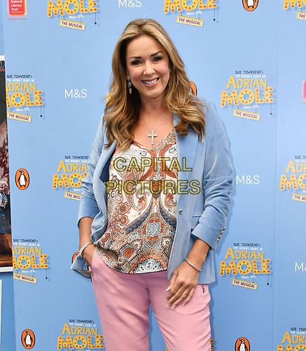 Claire Sweeney attends The Secret Diary Of Adrian Mole Aged 13 ¾ musical adaptation of Sue Townsend's comic fiction which opens in Adrian's 50th birthday year and follows the daily dramas and misadventures of the teenager's adolescent life, at Ambassadors Theatre, London, England on July 02, 2019.<br /> CAP/JOR<br /> ©JOR/Capital Pictures