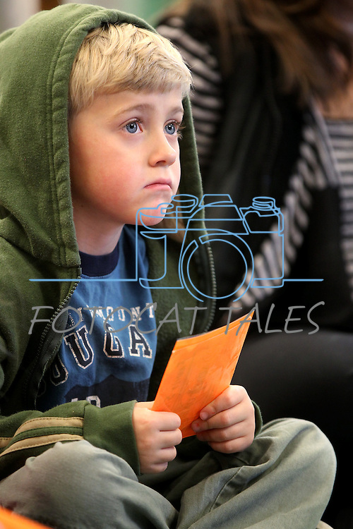 John Allan, 5, waits for Storytime at the Carson City Library, in Carson City, Nev. on Thursday, Nov. 29, 2012..Photo by Cathleen Allison
