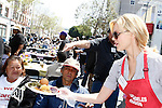 April 2, 2010: Anya Monzikova at the LA Mission Easter Luncheon event for the homeless in Los Angeles, California. .Photo by Nina Prommer/Milestone Photo.