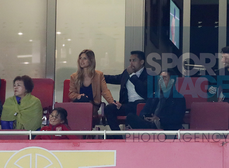 Arsenal's Alexis Sanchez looks on from his box during the premier league match at the Emirates Stadium, London. Picture date 11th August 2017. Picture credit should read: David Klein/Sportimage