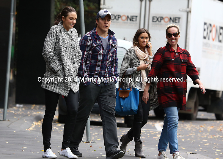 27 APRIL 2014 SYDNEY AUSTRALIA<br /> <br /> EXCLUSIVE PICTURES <br /> <br /> 56TH ANNUAL TV WEEK LOGIE AWARDS 2014 - THE MORNING AFTER<br /> <br /> Steve Peacocke gets back into his 'comfy' flanno shirt and cap the morning after taking a silver Logie - spotted walking between hotels with his fianc&eacute; Bridgette Sneddon<br /> <br /> *No web/digital use without clearance*<br /> MUST CALL PRIOR TO USE .<br /> +61 2 9211-1088<br /> Matrix Media Group<br /> Note: All editorial images subject to the following: For editorial use only. Additional clearance required for commercial, wireless, internet or promotional use.Images may not be altered or modified. Matrix Media Group makes no representations or warranties regarding names, trademarks or logos appearing in the images.
