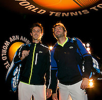 Rotterdam, The Netherlands. 15.02.2014. Julien Benneteau(FRA)/ Edouard Roger-Vasselin(FRA) at the ABN AMRO World tennis Tournament<br /> Photo:Tennisimages/Henk Koster