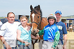 MOYVANE: With the horse Moyvane Racer at the Ballybunion Races on Sunday were Mike and Michelle Brosnan, Shane and Tom Ryan(Moyvane)..