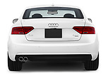 Straight rear view of 2014 Audi A5 Premium Quattro 2 Door Coupe stock images