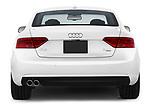 Straight rear view of 2014 Audi A5 Premium Quattro 2 Door Coupe stock images