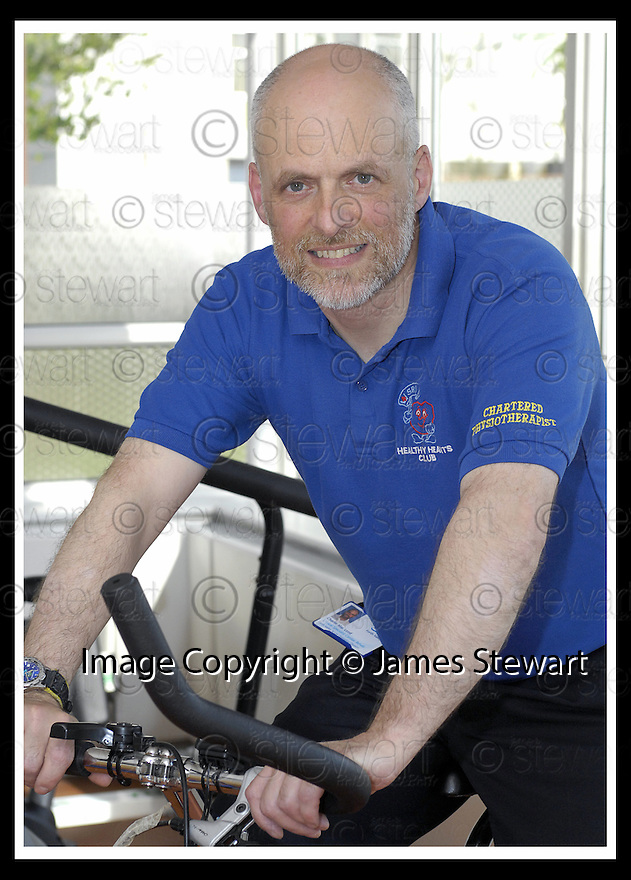 18/04/2007       Copyright Pic: James Stewart.File Name : sct_jspa02_charlie_macleod.CHARLIE MACLEOD, CLINICAL SPECIALIST, CARDIO REHAB, AT THE STIRLING ROYAL INFIRMARY GYM......James Stewart Photo Agency 19 Carronlea Drive, Falkirk. FK2 8DN      Vat Reg No. 607 6932 25.Office     : +44 (0)1324 570906     .Mobile   : +44 (0)7721 416997.Fax         : +44 (0)1324 570906.E-mail  :  jim@jspa.co.uk.If you require further information then contact Jim Stewart on any of the numbers above.........