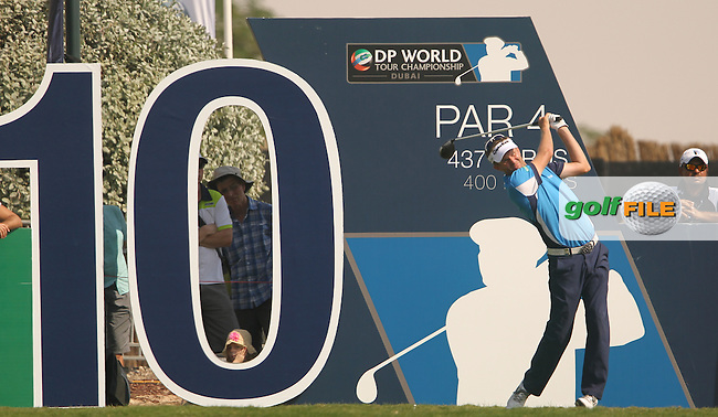 David LYNN (ENG) during round 2 of the season ending DP World, Tour Championship, Dubai, UAE.<br /> Picture: Denise Cleary www.golffile.ie