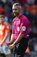 Referee Sebastian Stockbridge looks on<br /> <br /> Photographer Richard Martin-Roberts/CameraSport<br /> <br /> The EFL Sky Bet League One - Blackpool v Milton Keynes Dons - Saturday August 12th 2017 - Bloomfield Road - Blackpool<br /> <br /> World Copyright &copy; 2017 CameraSport. All rights reserved. 43 Linden Ave. Countesthorpe. Leicester. England. LE8 5PG - Tel: +44 (0) 116 277 4147 - admin@camerasport.com - www.camerasport.com