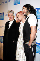 LOS ANGELES, CA - DEC 3: David Lynch; Katy Perry; Russell Brand at the 3rd Annual 'Change Begins Within' Benefit Celebration presented by The David Lynch Foundation held at LACMA on December 3, 2011 in Los Angeles, California