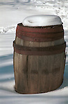 Whiskey barrel covered in snow Commonwealth of Virginia, Fine Art Photography by Ron Bennett, Fine Art, Fine Art photography, Art Photography, Copyright RonBennettPhotography.com ©