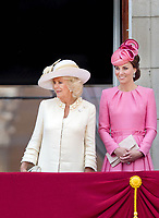 17 June 2017 - London, England - Camilla, Duchess of Cornwall and Duchess Kate, Princess Kate, Duchess of Cambridge. The ceremony of the Trooping the Colour, marking the monarch's official birthday, in London. Photo Credit: PPE/face to face/AdMedia