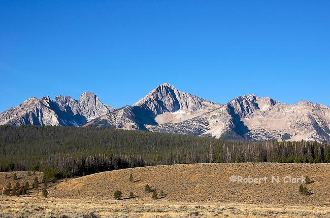 Sawtooth Mountains near Galena Summit North of Sun Valley, Idaho