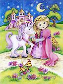 Interlitho, Theresa, CHILDREN, paintings, princ., unicorn, night(KL4330,#K#)