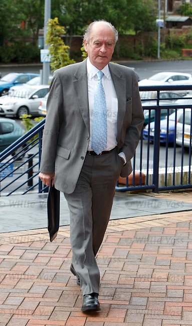 Bill Dickie of Motherwell arrives for the SFA AGM this morning