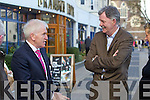 Jimmy Deenihan and Donal Spring at the North Kerry, West Limerick Election 2011 count at the Brandon Hotel Tralee on Saturday.