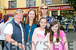 Love Listowel Marketing Group hosted a Family Fun Evening in the Square, Listowel on Sunday. Pictured were l-r  Kay Halpin, Nora O'Halloran, Reena O'Halloran, Megan O'Donoghue and Geraldine O'Donoghue