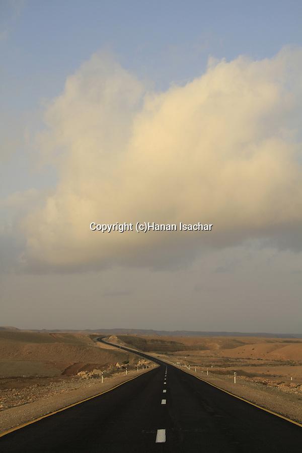 Israel, Negev, road 12 in Ovda Valley