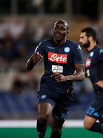 Calcio, Serie A: Roma, stadio Olimpico, 20 settembre 2017.<br /> Napoli's Kalidou Koulibaly celebrates after scoring during the Italian Serie A football match between Lazio and Napoli at Rome's Olympic stadium, September 20, 2017.<br /> UPDATE IMAGES PRESS/Isabella Bonotto