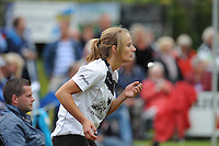 KAATSEN: WEIDUM: 20-08-2014, Dames PC Hoofdklasse Dames, Winnaars Lisette Wagenaar, Leonie van der Graaf en Fenna Zeinstra, Leonie van der Graaf (Koningin), ©foto Martin de Jong