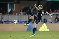 San Jose, CA - Saturday September 16, 2017: Florian Jungwirth during a Major League Soccer (MLS) match between the San Jose Earthquakes and the Houston Dynamo at Avaya Stadium.