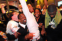 New Orleans Saints celebrate the win of the NFC Championship game against the Minnesota Vikings,  New Orleans, Sunday, Jan. 24, 2010..(AP Photo/Cheryl Gerber)