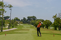 Lucius TOH (SIN) watches his tee shot on 3 during Rd 1 of the Asia-Pacific Amateur Championship, Sentosa Golf Club, Singapore. 10/4/2018.<br /> Picture: Golffile | Ken Murray<br /> <br /> <br /> All photo usage must carry mandatory copyright credit (&copy; Golffile | Ken Murray)