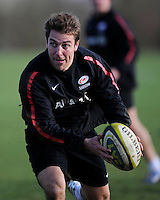 20130131 Copyright onEdition 2013©.Free for editorial use image, please credit: onEdition..Chris Wyles during the Saracens Captains Run at Old Albanians Rugby Club, St Albans on Thursday 31st January 2013 (Photo by Rob Munro)..For press contacts contact: Sam Feasey at brandRapport on M: +44 (0)7717 757114 E: SFeasey@brand-rapport.com..If you require a higher resolution image or you have any other onEdition photographic enquiries, please contact onEdition on 0845 900 2 900 or email info@onEdition.com.This image is copyright onEdition 2013©..This image has been supplied by onEdition and must be credited onEdition. The author is asserting his full Moral rights in relation to the publication of this image. Rights for onward transmission of any image or file is not granted or implied. Changing or deleting Copyright information is illegal as specified in the Copyright, Design and Patents Act 1988. If you are in any way unsure of your right to publish this image please contact onEdition on 0845 900 2 900 or email info@onEdition.com