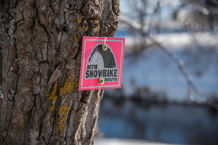 Bike Trail signage in Marquette, Michgan.