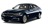 Front three quarter view of a 2013 BMW 318d Gran Turismo Luxury Hatchback2013 BMW 318d Gran Turismo Luxury Hatchback
