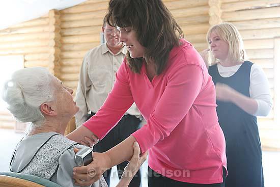 Eldorado - Mary Batchelor reunion with her great aunt Marjorie Holm. Heidi Foster, Edson Jessop. Thursday, June 26, 2008. YFZ Ranch